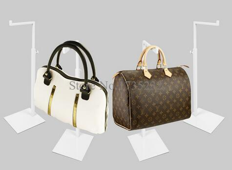 Adjustable Height Metal Handbag & Bag <font><b>Display</b></font> Stand White Women Handbag & Purse <font><b>Display</b></font> Rack bag holder rack