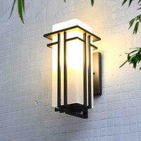 Светодио дный светодиодный квадратный открытый настенный светильник Современный минималистичный крыльцо огни водостойкий балкон сад све