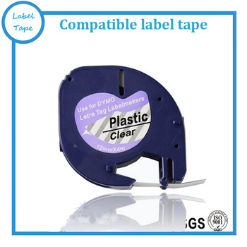 20 x tape cartridge 12267 clear plastic 12mmx4m for DYMO LETRATAG label makers