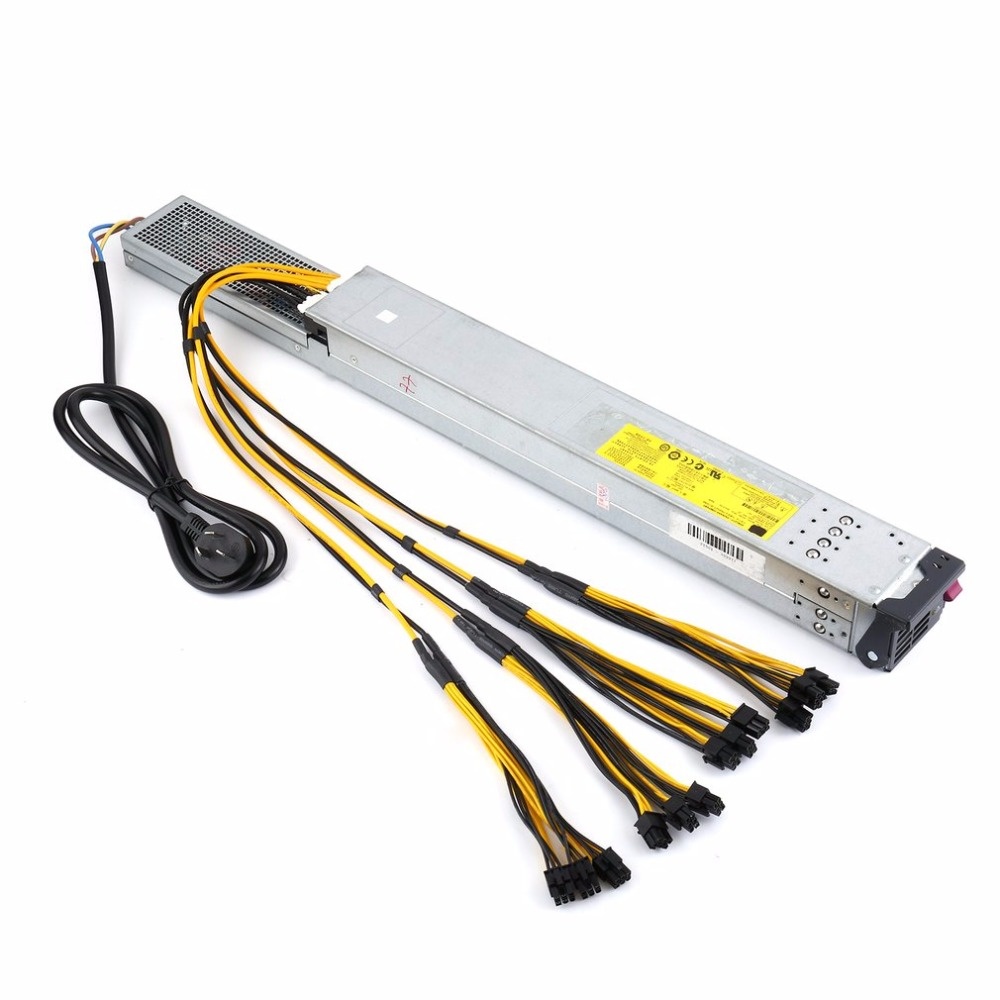 High Efficiency 2450 Watt Power Supply Server PSU with Ready to Use Wiring for Antminer Mining Miner Machine