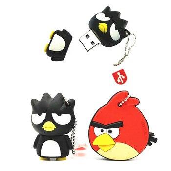 Hot Sale Angry Bird Pendrive cartoon animal parrot bird 4GB/8GB/16GB/32GB usb 2.0 flash drive flash memory stick pendrive