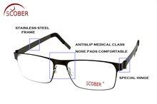 Фотография = SCOBER = Progressive Multifocal Reading Glasses Designer Half-rim MEN Titanium alloy See Near And Far TOP 0 ADD +1 To +4