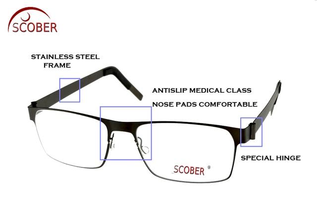 5a54df066 SCOBER Designer de Óculos de Leitura Multifocal Progressiva Sem solda  inoxidável Ver de Perto