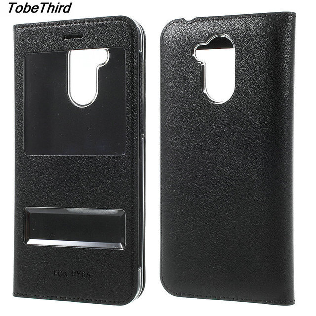 TobeThird For Huawei Honor 6A Case Double Window Leather Flip Protection Cover Case for Huawei Honor 6A Mobile Phone Accessories