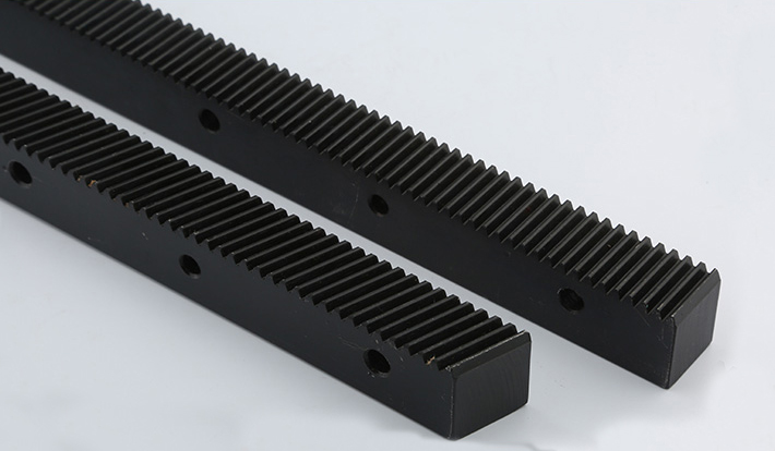 Black Helical Gear 1.25 Mod Cnc Gear Rack Length 670mm Gear Rack C45 Material For Cnc Machine