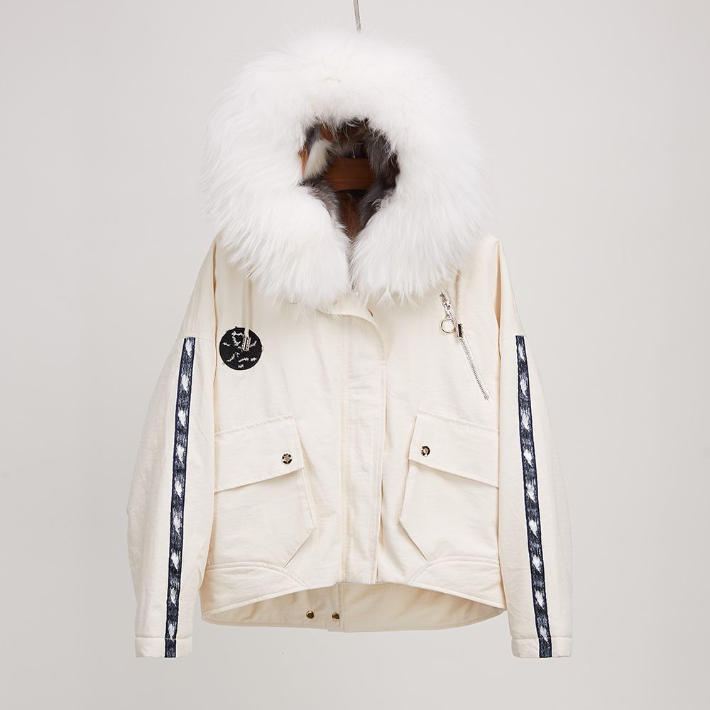Real fox fur collar parka natural fox fur placket jacket detachable down liner coats for women fur aiyangsilan fox fur down liner detachable jacket long warm hooded ladies fur coats white real fox fur collar parka for women