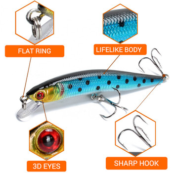 Details about  /Artificial Fishing Lure Pike Carp Floating Crankbait Plastic Hard Bait Wobblers