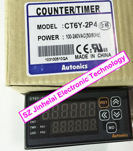 Authentic original CT6Y-2P4(CT6Y-2P) AUTONICS Count relay 100-240VAC Counter/timer цены