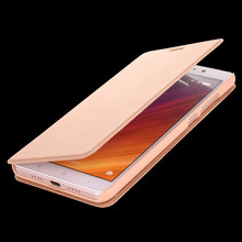 Hard PU Leather Flip Case for Xiaomi Red