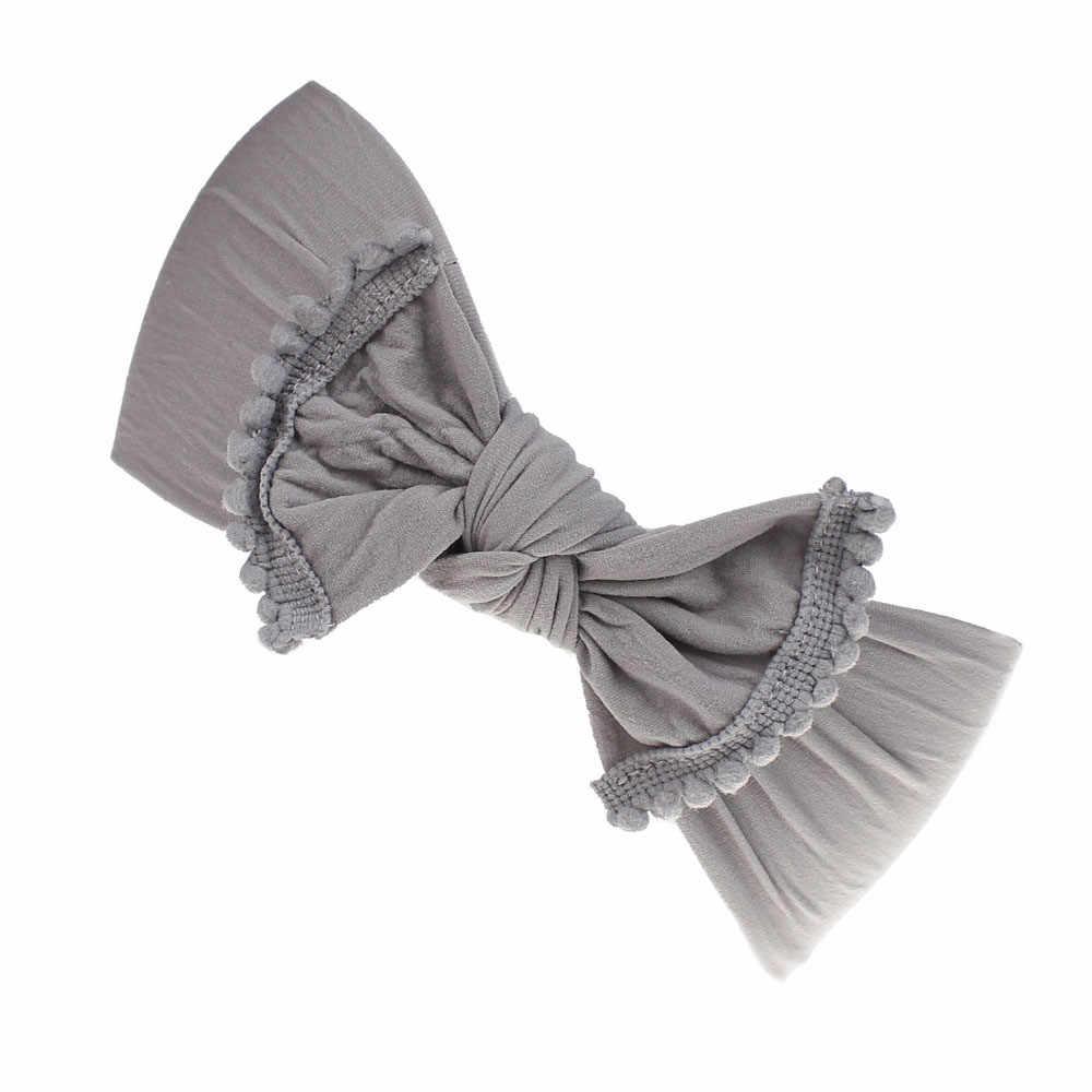 1 Pc เด็กวัยหัดเดินเด็กทารก Bowknot Headband ยืด Hairband Headwear Fascia ต่อ capelli สำหรับเด็ก * 30