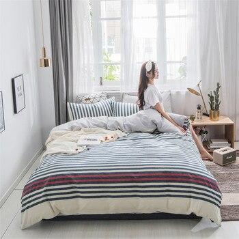 Blue white stripe 4pcs/set Bedding Set Bed Linings Duvet Cover Bed Sheet Pillowcases Cover Set  1.2m/1.5m/1.8m/2m bed