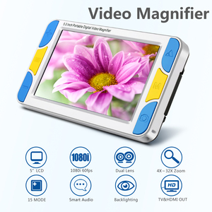"""2017 5"""" LCD Digital Magnifier HD Handheld Video Magnifier Reading magnifier Aid, Digital Video Magnifier electronic microscope"""