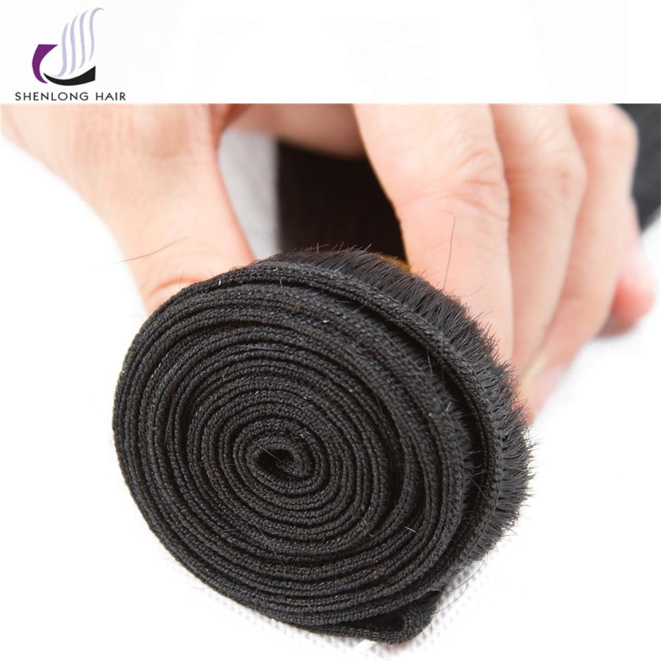 SHENLONG HAIR Mongolian Straight Human Hair Bundles 8-26 tums - Mänskligt hår (svart) - Foto 4