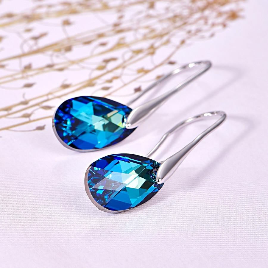 MALANDA Water Drop Earrings For Women New Fashion Crystal From SWAROVSKI Silver Color Pendant Dangle Earrings Jewelry Girls Gift все цены
