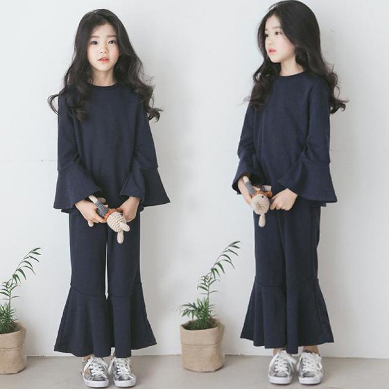 Ubrania dla dzieci ustawia wiosna bawełna dziewczyny ubrania 2 sztuk garnitury dla dzieci ubrania dla dzieci dziewczyny odzież ustawia koszulki + spodnie szerokie nogawki spodnie 12 w Zestawy ubrań od Matka i dzieci na AliExpress - 11.11_Double 11Singles' Day 1