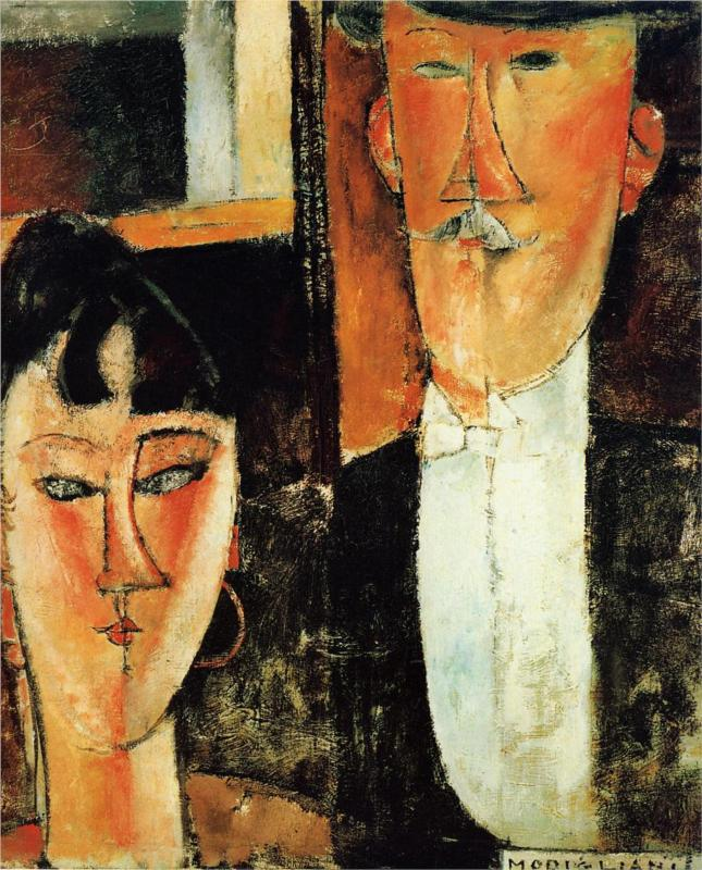 Невеста и жених (пара) Амедео Модильяни картина маслом для продажи онлайн Высокое качество Портрет картина женщина Ручная роспись