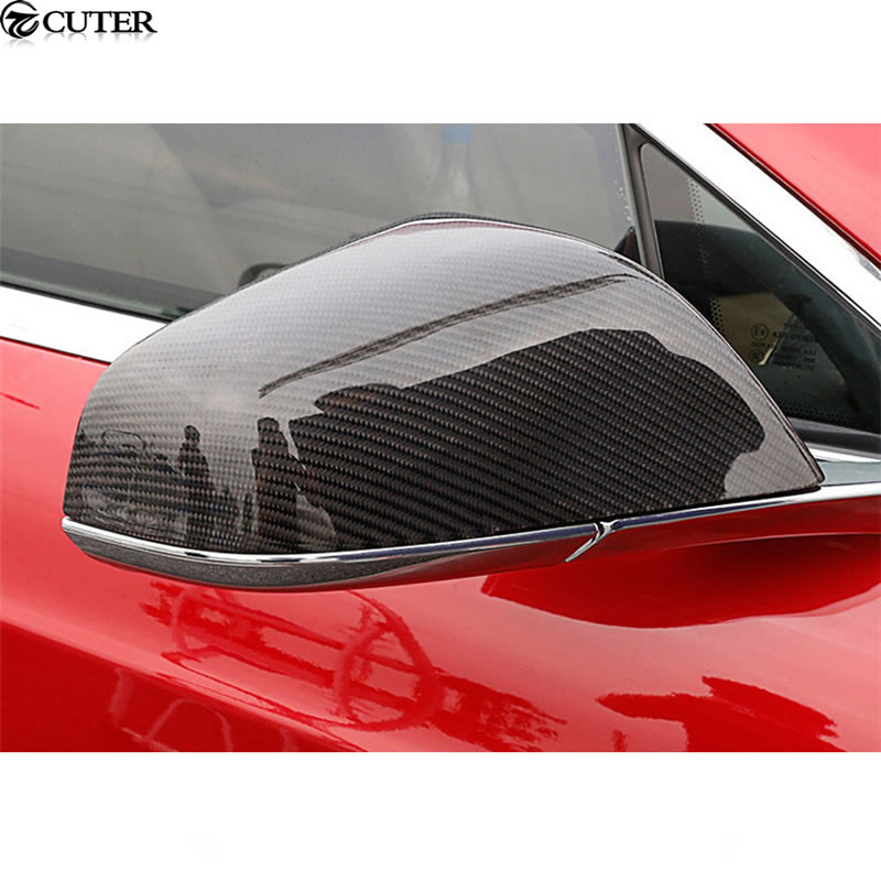 Car Mirror Replacement >> Us 239 99 20 Off Model S Replacement Carbon Fiber Side Mirror Covers Auto Car Mirror Caps For Tesla Model S Free Shipping In Mirror Covers From