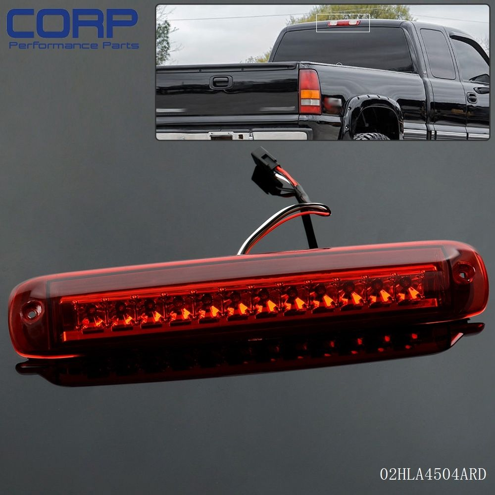 Led 3rd rear tail brake cargo light for 1999 2006 chevy silverado gmc sierra