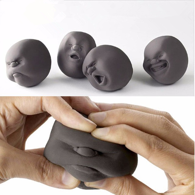 Fun Novelty Caomaru Antistress Ball Toy Human Face Emotion Vent Ball Resin Relax Doll Adult Stress Relieve Novelty Toys Gift