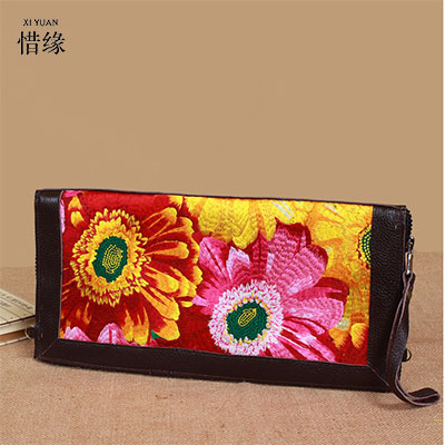 XIYUAN BRAND exquisite Women Genuine Leather embroidery Handbags Vintage woman Messenger Fashion lady Shoulder CrossBody Bags xiyuan brand ladies beautiful and high grade imports pu leather national floral embroidery shoulder crossbody bags for women