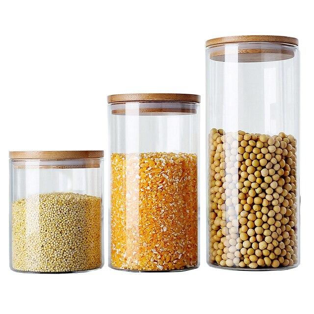 Gläser Aufbewahrungsboxen 6 größe glas aufbewahrungsbox lebensmittel kanister für küche