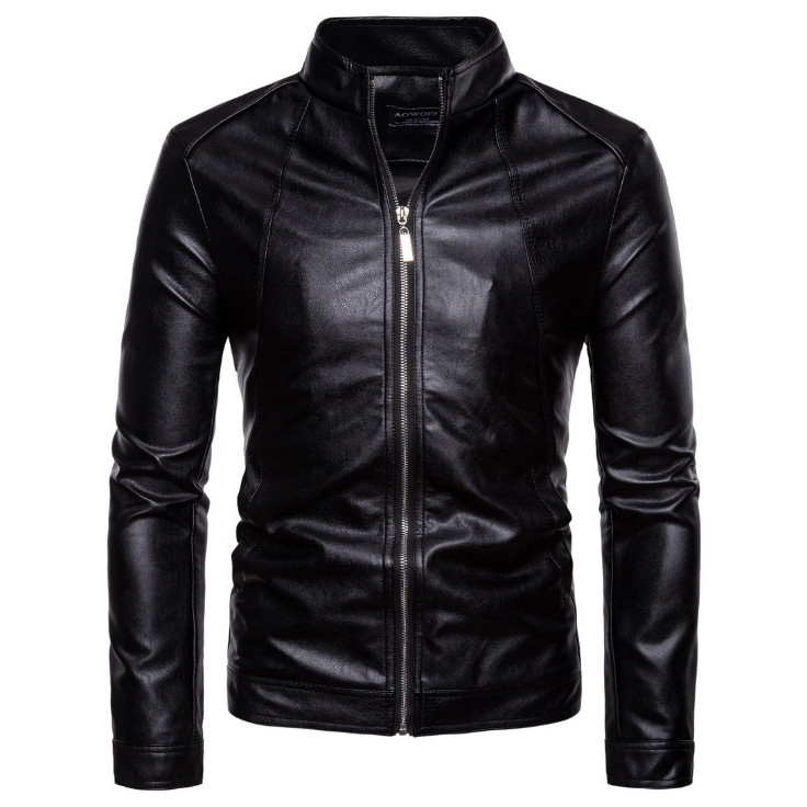 Top Quality Leather Jacket Men Slim Fit Fashion Biker Jacket New Vintage Motorcycle Leather Jacket Male Zippers Coat Size 5XL