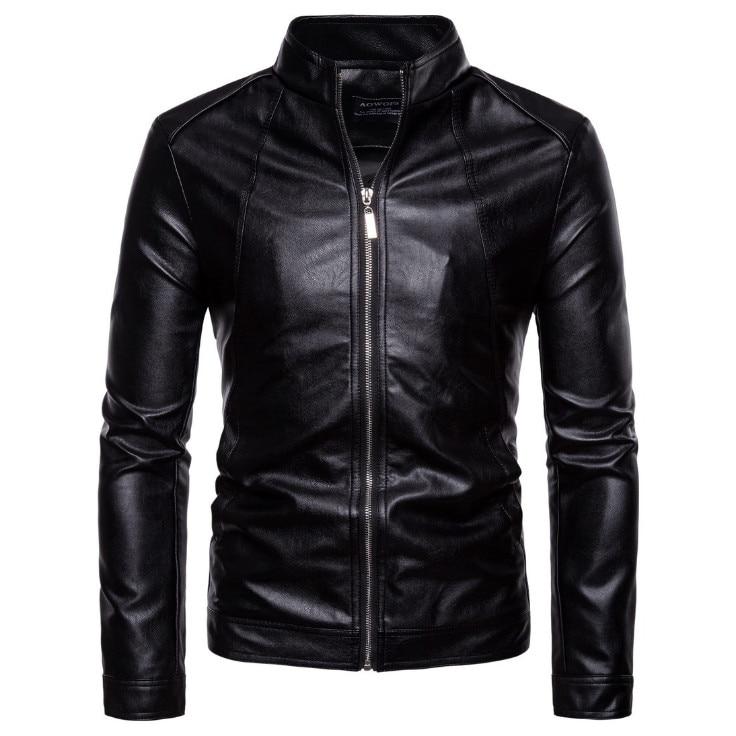 Top Quality Leather Jacket Men Slim Fit Fashion Biker Jacket New Vintage Motorcycle Leather Jacket Male Zippers Coat Size 5XL