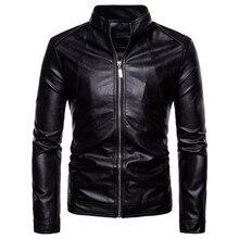814d02d66ed Calidad Superior chaqueta de cuero hombres Slim Fit moda Biker chaqueta  nuevo Vintage motocicleta chaqueta de