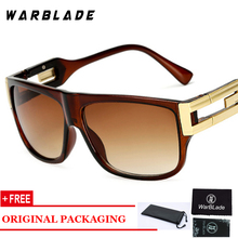 WARBLADE Retro Flat Top Men Square Sunglasses Brand