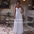 Роскошный милая шифоновое свадебное платье Vestido Novia низкие цены в евро пляж свадебные платья мантия де свадебная 2015 новый