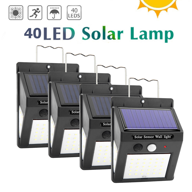 40LED COB Solar Power Motion Induction Mode Standing Bracket With Back Strap Sensor Light Outdoor Waterproof Garden Wall Lamp