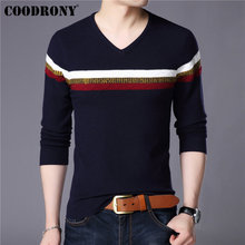 COODRONY 2019 Spring Autumn Cashmere Cotton Sweater Men Knitwear Shirt Mens Sweaters Pull Homme Casual V-Neck Pullover Men 91013