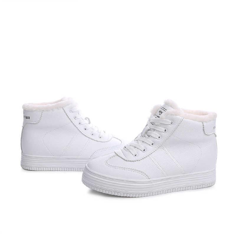 Vendita calda!!! donne stivali invernali Più Spessa pelliccia calda snow boots di Alta Qualità lace-up stivaletti scarpe invernali femminili