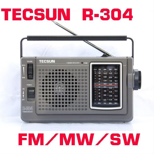 TECSUN R-304 High Sensitivity FM Radio MW/SW Radio Receiver With Built-In Speaker For Elder Outdoor High Quality Digital Radio jinserta new portable tecsun r 2010d full band radio receiver digital fm mw sw radio with led display alarm clock music player