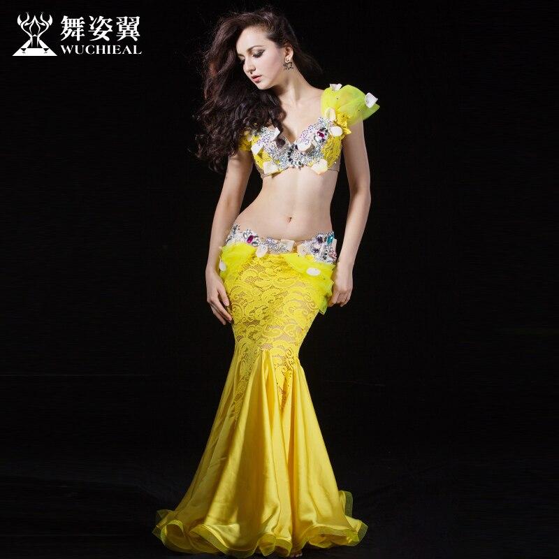 2016 Wuchieal Brand font b Women b font High Grade Bellydance Costumes 2017 New Woman Belly