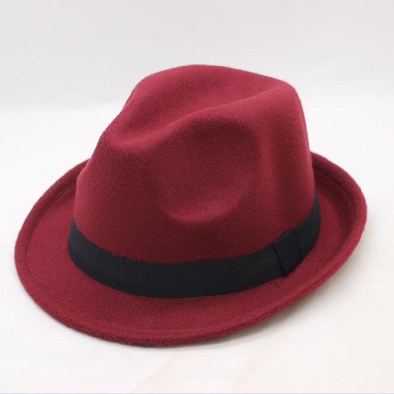 [SUOGRY] 2018 New Winter Fedora Hat Men Women Wool Felt Jazz Vintage Panama Cap