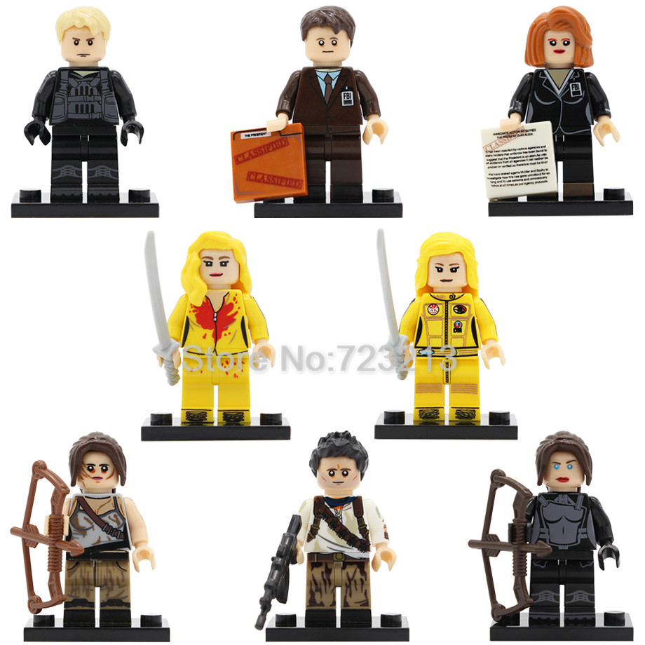 Kill Bill Vol.1 Uma Thurman Figure Katniss Peeta Nathan Drake FBI agents Building blocks Set model Toys for Children building blocks agent uma thurman peeta dc marvel super hero star wars action bricks dolls kids diy toys hobbies kl069 figures