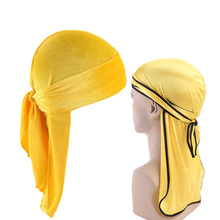Velvet Durag and Silky 2pcs set Long Tail Pirate Cap