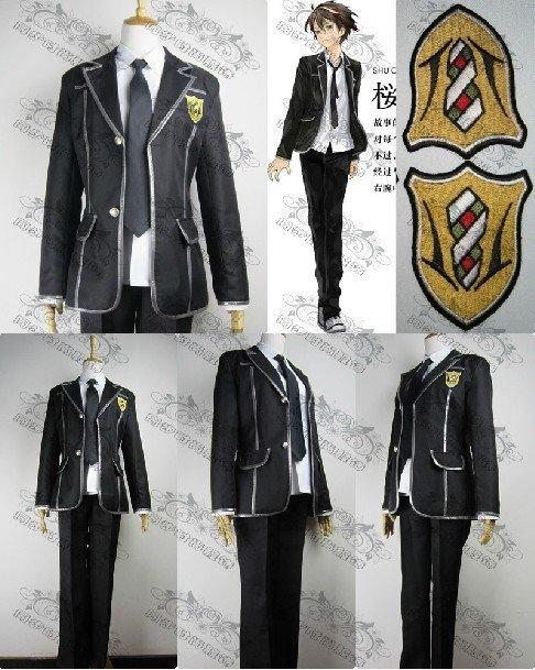 Guilty Crown Shu Ouma High School Uniform cosplay costume  Any Size