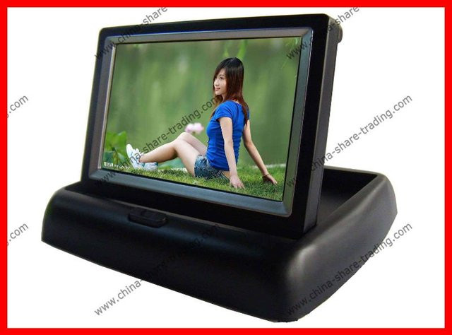 """4.3"""" inch foldable LCD TFT car Rear view Monitor Rearview Reverse Backup Camera"""