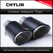 New 63mm Inlet 90mm Outlet Akrapovic Carbon Fiber Exhaust Tip/Muffler for End Pipes Stainless Steel Car Exhaust Tips