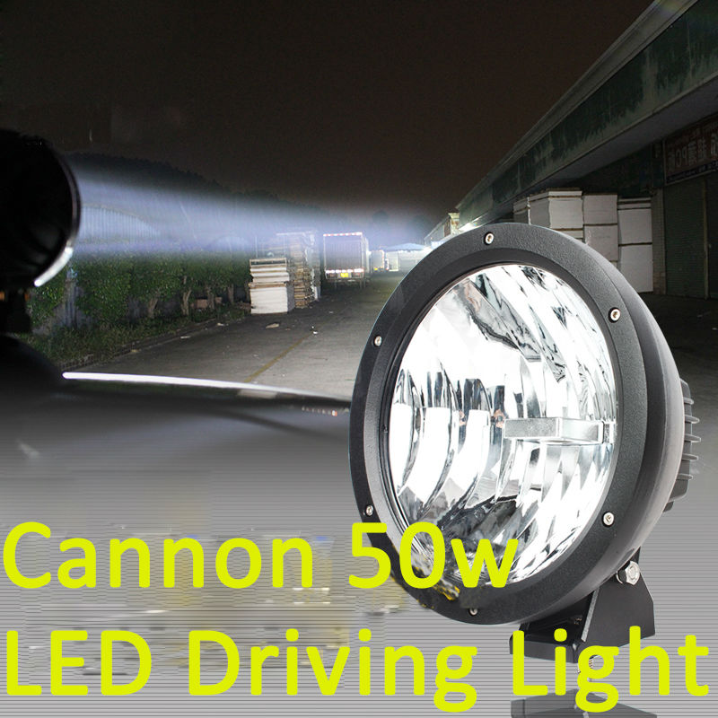 50W 7 9inch LED Working Driving Fog Light Car SUV Off road front bumper diamond Lamp with high intensity USA Cree LEDS Cannon 50w LED Driving Light (1)