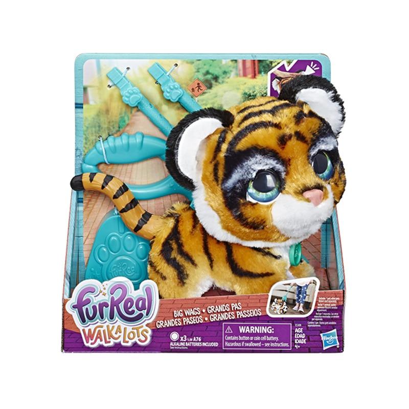 Hasbro 20 CM figuras de juguete de acción amigo de mascota furReal yo big pet baby tiger juguete de felpa móvil para niños-in Figuras de juguete y acción from Juguetes y pasatiempos    1