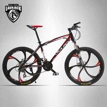 "Marco de Acero Bicicleta de Montaña 24 Velocidades Shimano Freno Mecánico LAUXJACK 26 ""Rueda de la Aleación"