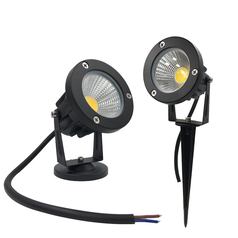 Free Shipping Garden Spot Light Led COB 3W 5W IP65 Outdoor Garden Led Spot Light 12V 110V 220V Led Garden Spike Light For Garden