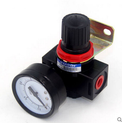 BR2000 1/4 Pneumatic Air Filter Regulator Valve GaugeAir Control Compressor Pressure 1pc air compressor pressure regulator valve air control pressure gauge relief regulator 75x40x40mm