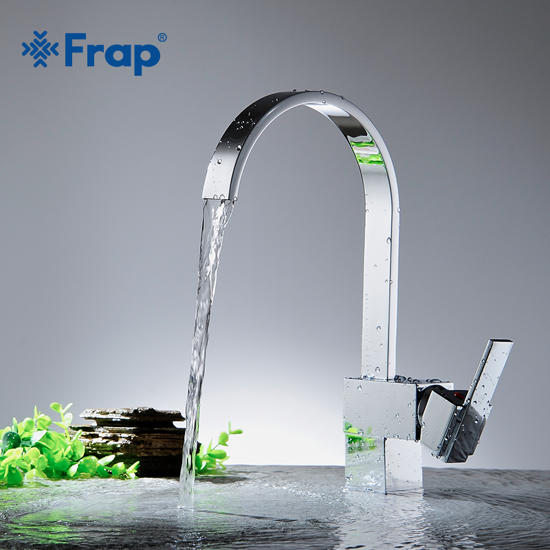 Frap 1 Set New Arrival Kitchen Faucet Mixer Cold And Hot Kitchen Tap Single Hole Water Tap Brass Kitchen Sink Mixer Y40028