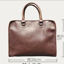 2016 High Quality Men's Business Briefcase Fashion Laptop Shoulder Bag Messenger Tote Bags Famous Designer Men Leather Handbags