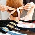 2016 Moda de Veludo Preto Da Fita Arcos Corda Dispositivo Cabelo Clipe Pinos para Mulheres Headwear Acessórios de Cabelo para As Meninas