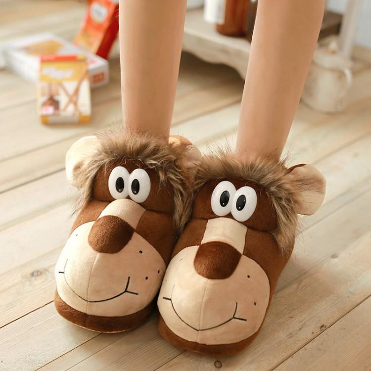 Cartoon Stuffed Animal Slippers For Adults Cute Slipper Shoes Women